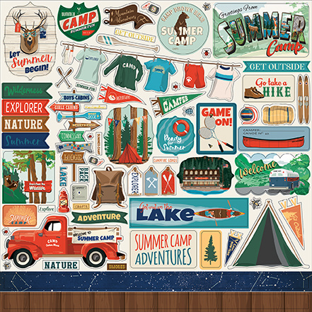 Carta Bella Summer Camp 12x12 Inch Element Sticker (CBSC119014)