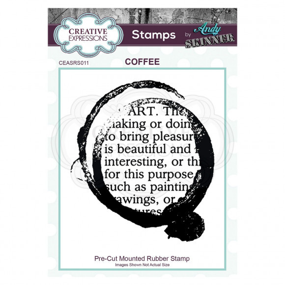 Creative Expressions Pre cut rubber stamp Andy Skinner coffee art (CEASR011)