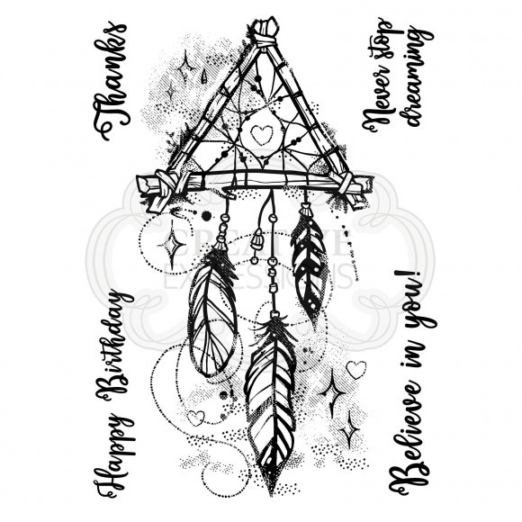 Creative Expressions • Woodware Clear stamp set Dream catcher (FRS794)