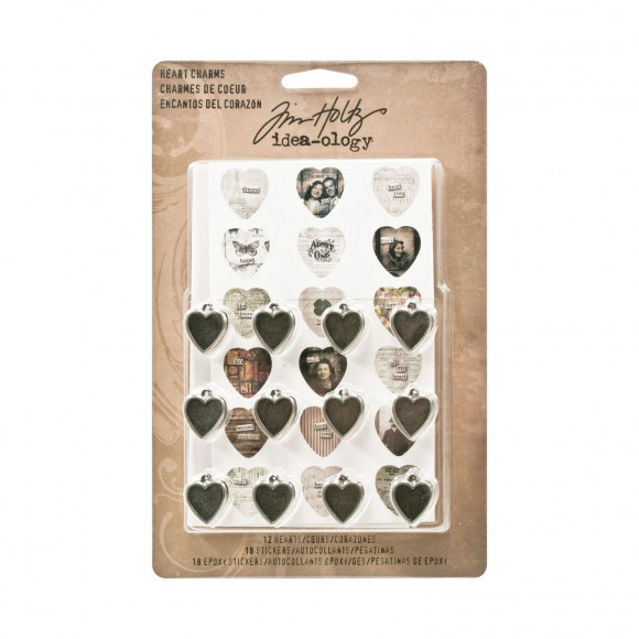 Tim Holtz Idea-ology heart charms (TH93132)