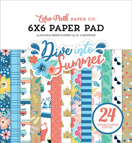 Echo Park Dive Into Summer 6x6 Inch Paper Pad (DIS210023)