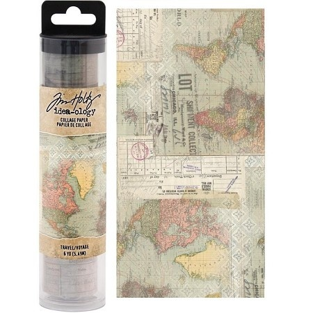 Tim Holtz Idea-ology  Collage Paper Travel (6yards) (TH93950)