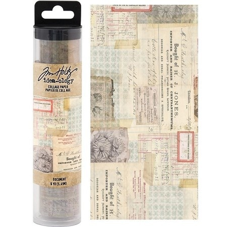 Tim Holtz Idea-ology  Collage Paper Document (6yards) (TH93951)