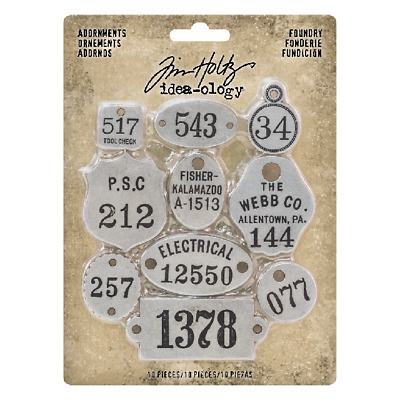 Tim Holtz Idea-ology Adornments Foundry (10pcs) (TH93690)