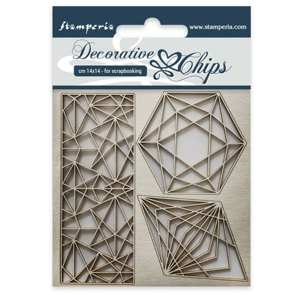 Stamperia Geometry Decorative Chips (SCB28)