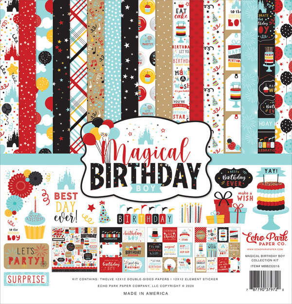 Magical Birthday Boy 12x12 Inch Collection Kit (MBB232016)