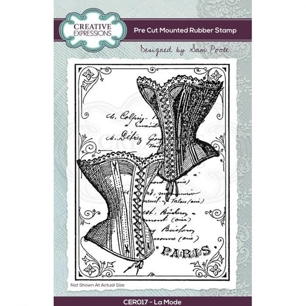 Creative Expressions Pre cut rubber stamp La Mode A6 (CER017)