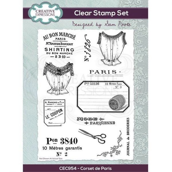 Creative Expressions Clear stamp set Corset de Paris A5 (CEC954)