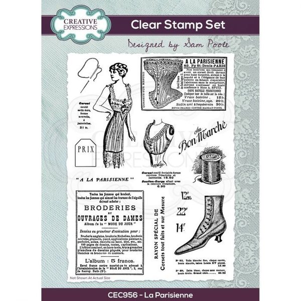 Creative Expressions Clear stamp set La Parisienne A5 (CEC956)