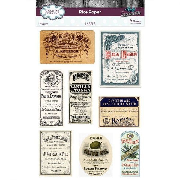 Creative Expressions Rice paper Labels (CEASRIC05)